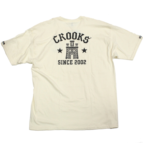 crooks&castles(クルックスアンドキャッスルズ)Tシャツお城柄、オフホワイト色
