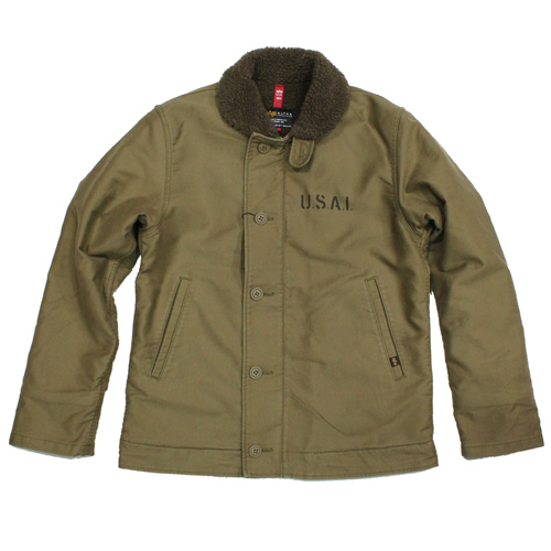 ALPHA N-1 デッキジャケット-KHAKI-