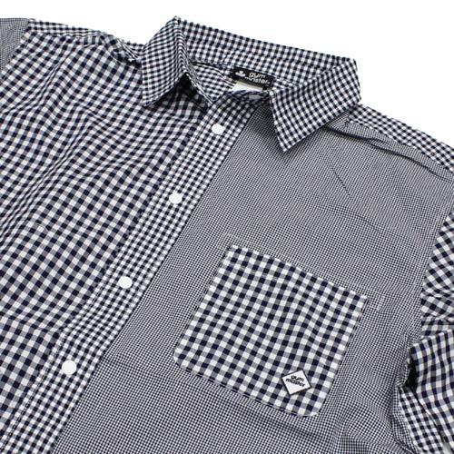 GYMMASTER(ジムマスター)2WAYギンガムチェックシャツ-クレイジーパターン-