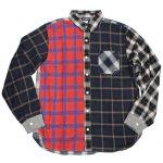 GYMMASTER(ジムマスター)切り替えチェックシャツ-クレイジーカラー-