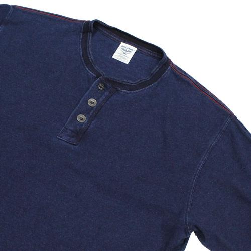 HOUSTON(ヒューズトン)インディゴ染めヘンリーネックTシャツが入荷