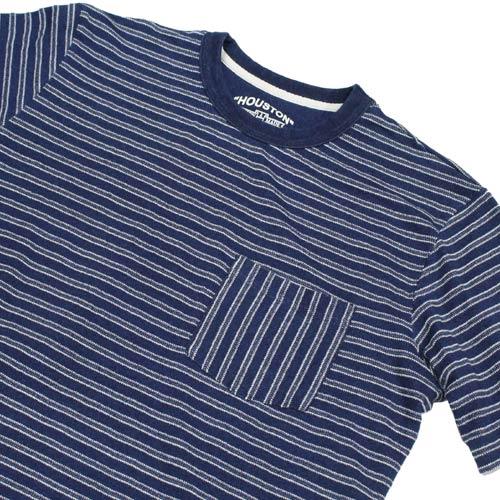 HOUSTON(ヒューズトン)インディゴ染めボーダーTシャツが入荷