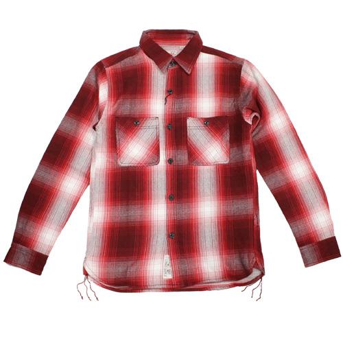 HOUSTON(ヒューストン)オンブレーチェックシャツ